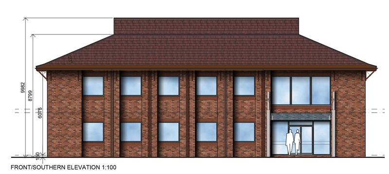 Proposed Office Development, Option A, City Office Park, Crusader Road, Tritton Road, Lincoln, LN6