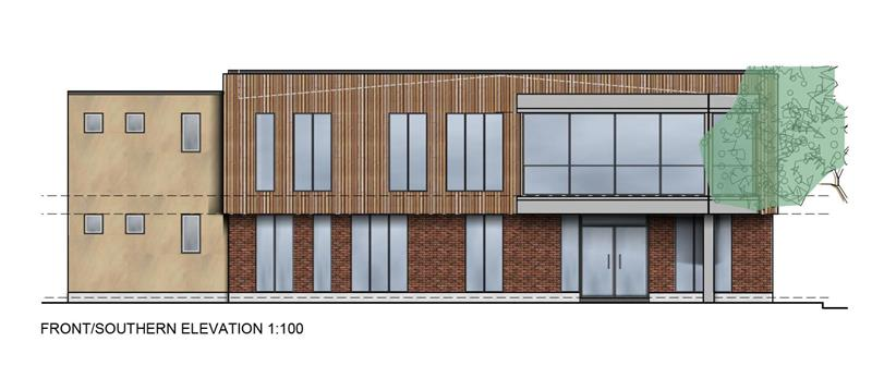 Proposed Office Development, Option B, City Office Park, Crusader Road, Tritton Road, Lincoln, LN6